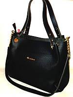 """Женская сумка, качественная """"Willow"""", черная, 0518, фото 1"""