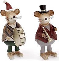 "Набор 2 статуэтки ""Мышка музыкант"" 10.5х6.5х16.5см"