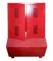 Стенд пожарный закрытого типа с ящиком для песка