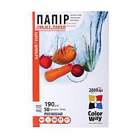 Папір 10*15 50л матовий 190 г/м2 PM190-50 ColorWay (PM1900504R)