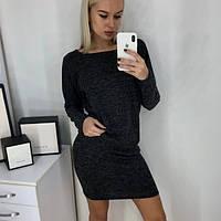 Женское теплое платье из ангоры-софт