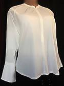 Блуза женская Next, большой размер, нарядная, элегантная,белая, размер 52/54