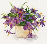 Набор для вышивки крестом Алиса 2-26 Цветущий сад.Крокусы