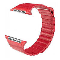 Ремінь для Apple Watch Leather Loop 38mm/40mm Red, фото 1