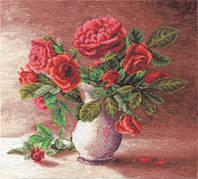 Набор для вышивки крестом Panna Ц-1153 Красные розы в белом кувшине