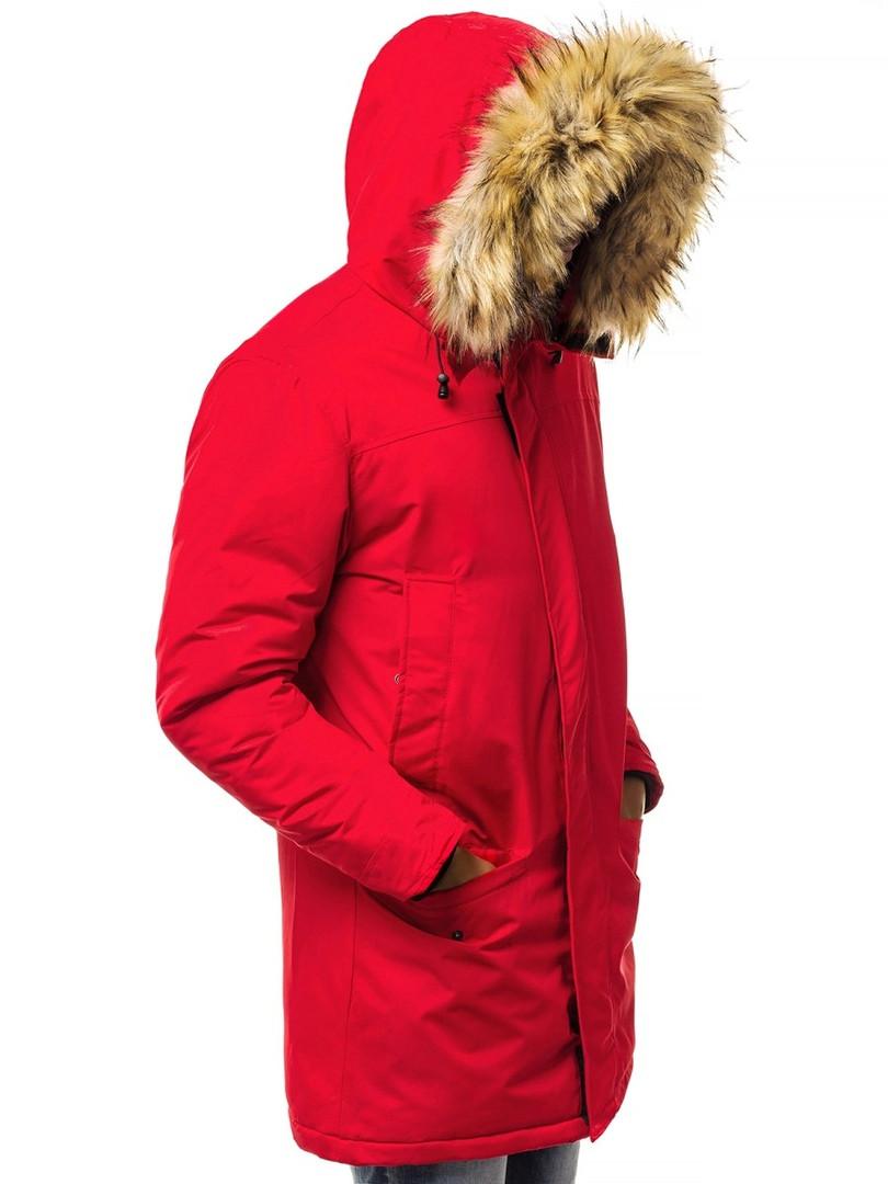 Зимняя мужская парка J.Style красного цвета