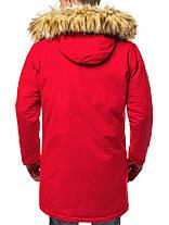 Зимняя мужская парка J.Style красного цвета, фото 3