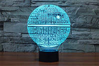 3D светильник 3D Lamp Звезда Смерти (LP-740)