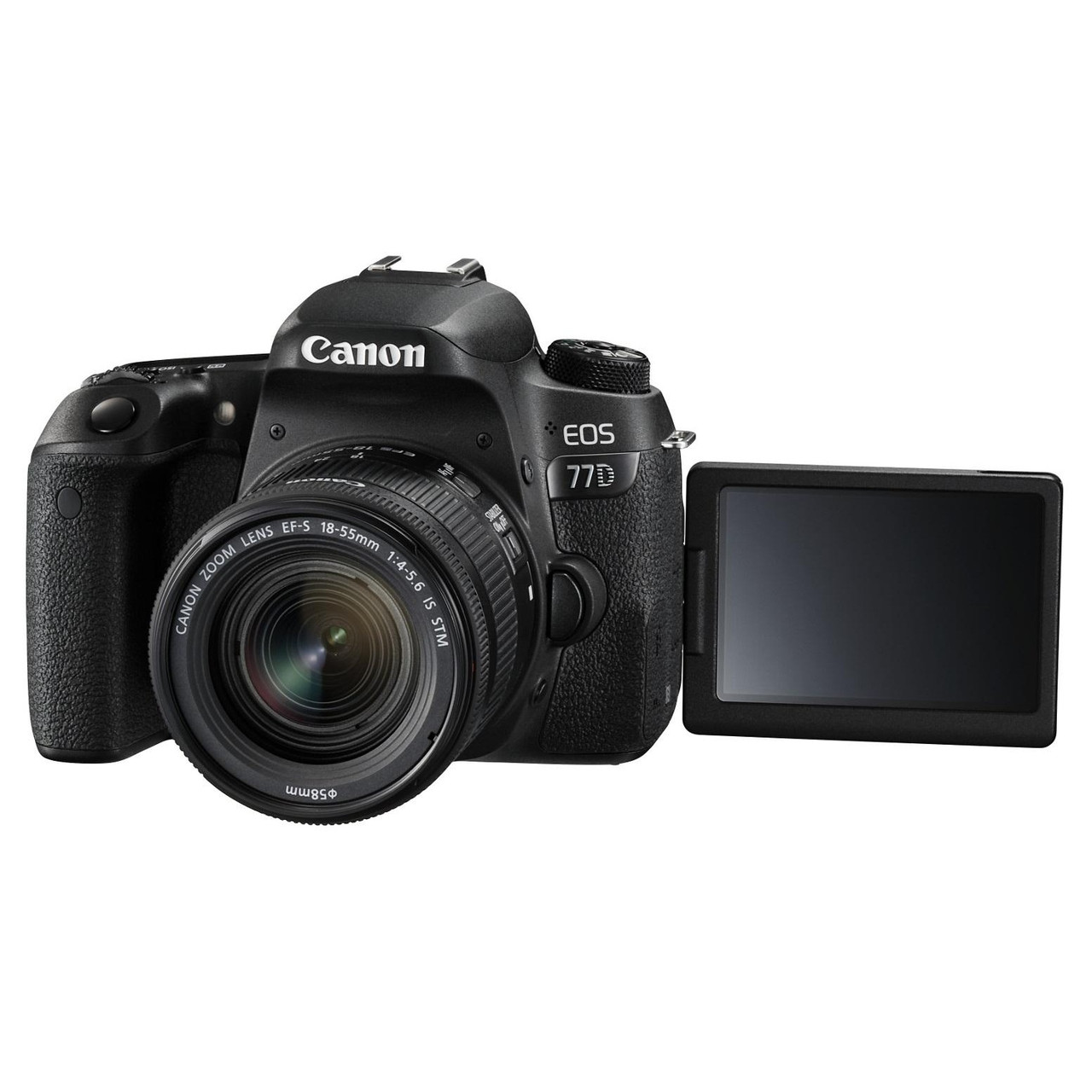 Зеркальный фотоаппарат Canon EOS 77D kit (18-55mm) IS