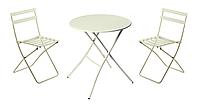 Комплект садовой мебели Sirio белый, два кресла и стол белый