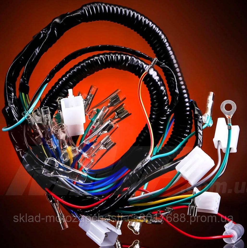 Проводка Дельта / Delta 110см3 с тахометром ( 7 фишек у руля )