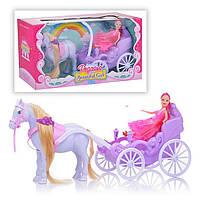 Карета 686-754 кінь, лялька, в коробці, 37-19-12,5 см