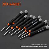 Профессиональный набор отверток для точных работ универсальный, 9 предметов Harden Tools 550122, фото 5
