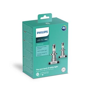 Автолампы PHILIPS LED H4 Ultion +160% 6200K 12V 15W P43t-38