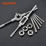 Профессиональный набор метчиков и плашек, 12 предметов Harden Tools 610457, фото 2