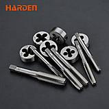 Профессиональный набор метчиков и плашек, 12 предметов Harden Tools 610457, фото 6