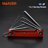 Набор шестигранников и отверток в ключнице 7 в 1 Harden Tools 540610, фото 2
