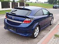 Спойлер нижний сабля тюнинг Opel Astra H GTC