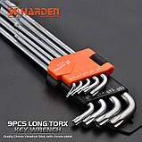 Набор шестигранников экстрадлинных Torx 9 ед. Harden Tools 540607, фото 3