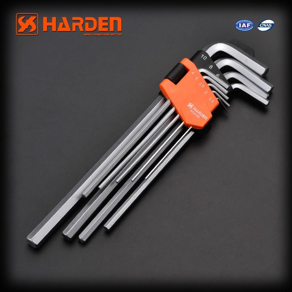 Комплект шестигранників экстрадлинных Hex 9 од. Harden Tools 540608