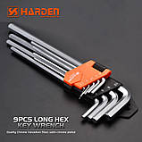 Комплект шестигранників экстрадлинных Hex 9 од. Harden Tools 540608, фото 2