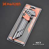 Комплект шестигранників экстрадлинных Hex 9 од. Harden Tools 540608, фото 3