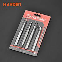 Набор пинцетов 4 шт. Harden Tools 660238