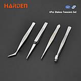 Набор пинцетов 4 шт. Harden Tools 660238, фото 2