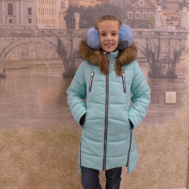 Зимнее пальто с натуральным мехом, фото 1