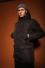 Чоловіча зимова куртка/парку (до -30°С) 3 кольори в наявності, фото 2