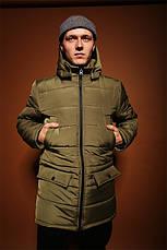 Чоловіча зимова куртка/парку (до -30°С) 3 кольори в наявності, фото 3