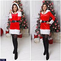Платье снегурочки с мехом 2 цвета 42-44 44-46