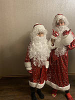 Детский новогодний костюм Дедушка Мороз принт, фото 1