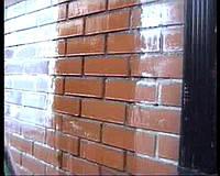 Очистка фасадов от высолов и растворных пятен