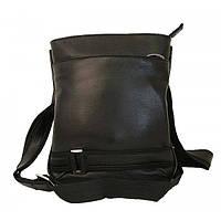 Мужская кожаная сумка 1416 Black flоtar. Сумка через плечо. Сумка мужская натуральная кожа.