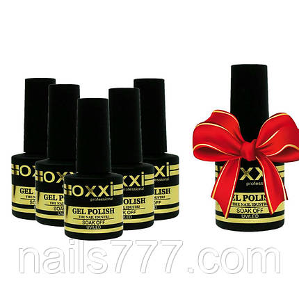 Набор гель-лаков Oxxi 5+1  8мл, фото 2