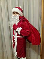 Детский новогодний костюм Дедушка Мороз стрейч-велюр, фото 1