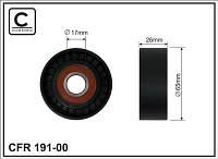 Ролик натяжной ремня аксессуаров CAFFARO 191-00 без кронштейна 1.5 DCI - 1.6 16 V