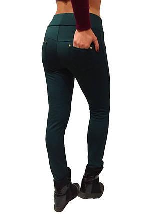 Брючные лосины  НОРМА с начесом № 137 зеленые, фото 2