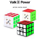 Кубик Рубика The Valk 3 Power M black | Валк 3 магнитный - Кубик Рубика 3х3 №1, фото 8