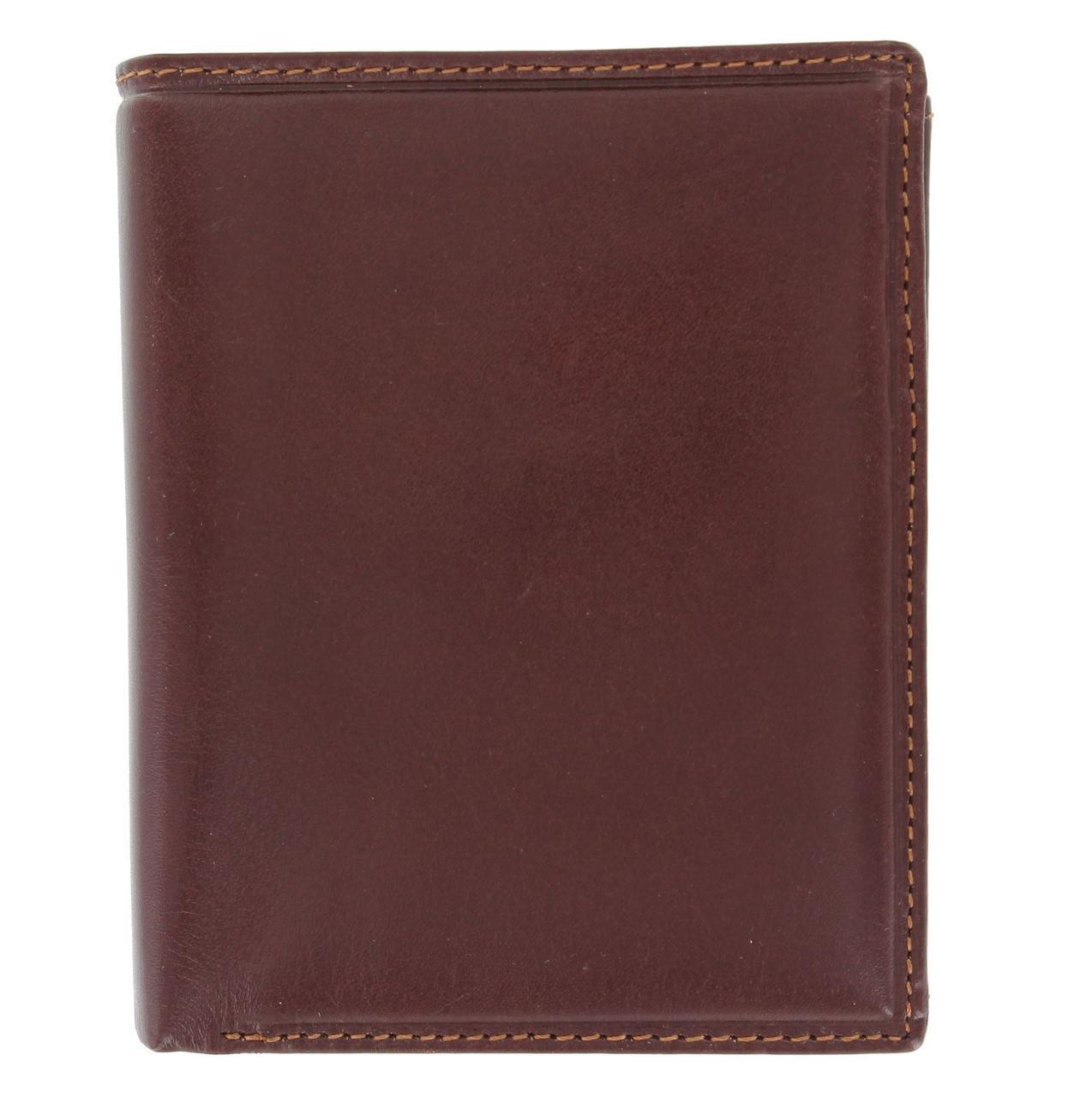 Вертикальный кошелек из гладкой кожи Visconti MZ3 brown (Великобритания)