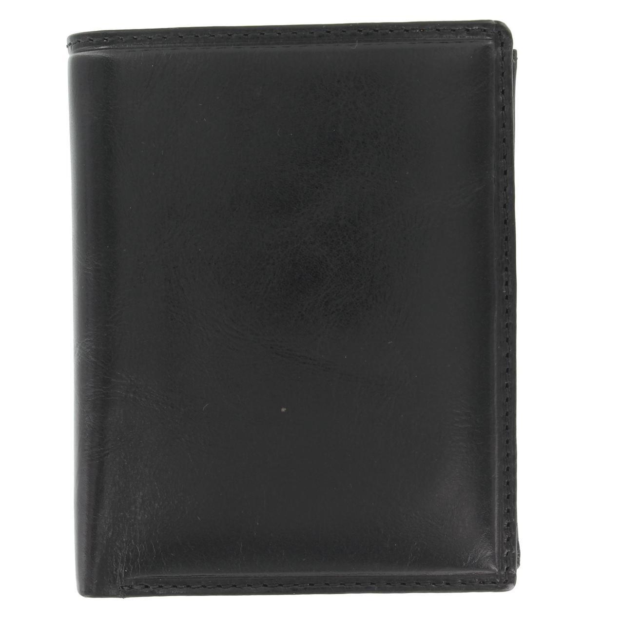 Вертикальный кошелек из гладкой кожи Visconti MZ3 black (Великобритания)