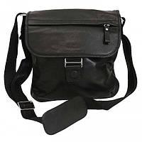 Мужская кожаная сумка 1417 Black flotar. Сумка через плечо. Сумка мужская натуральная кожа.