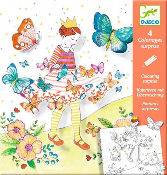 """DJECO Художественный комплект для рисования-разукрашка """"Леди-бабочка"""""""