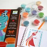 DJECO Художній комплект малювання кольоровим піском Блакитні принцеси, фото 2
