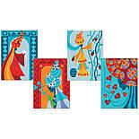 DJECO Художній комплект малювання кольоровим піском Блакитні принцеси, фото 4