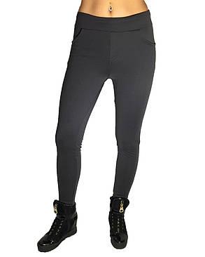 Женские брюки № 151 дайвиг-начес серые НОРМА, фото 2