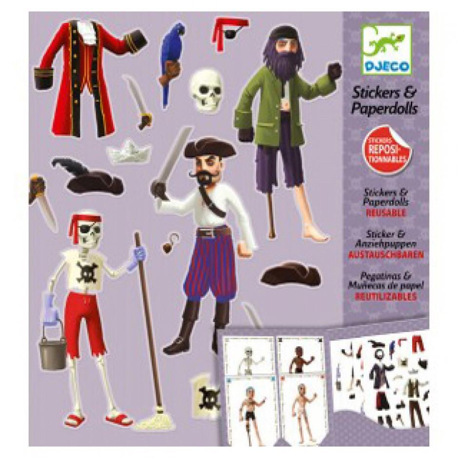 DJECO Художественный комплект с наклейками Пираты