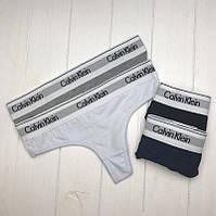 Женское нижнее белье Calvin Klein 365  стринги реплика - 4 цвета , фото 3