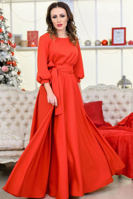 """Червоне плаття великого розміру""""Ванесса"""""""